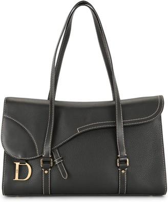 Christian Dior pre-owned Saddle flap tote bag