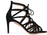 Aquazzura 'Ivy' sandals - women - Chamois Leather/Leather - 36.5