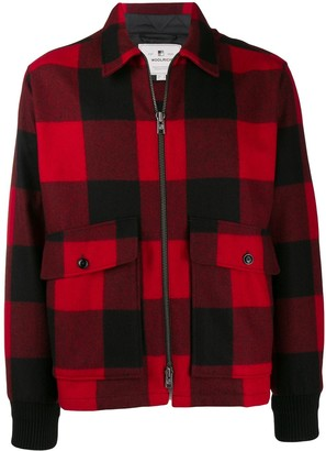 Woolrich check pattern shirt jacket