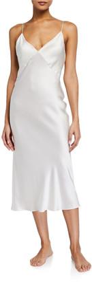 Olivia von Halle Issa Sleeveless Silk Nightgown