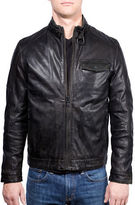Ungaro Leather Cafe Racer Moto Jacket