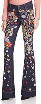 Alice + Olivia Ryley Embroidered Low Rise Jeans
