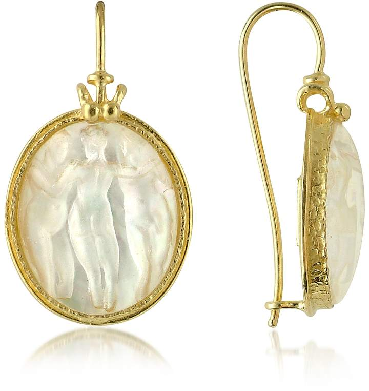 Tagliamonte Three Graces - 18K Gold Mother of Pearl Cameo Earrings