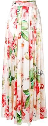 Philipp Plein Floral Print Skirt
