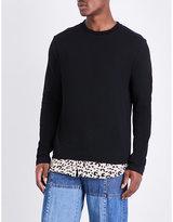 Mcq Alexander Mcqueen Leopard-print Hem Cotton-jersey Top