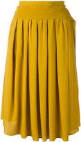 No.21 tie-fastening midi skirt
