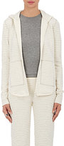 ATM Anthony Thomas Melillo Women's Striped Cotton-Blend Hoodie-GREY