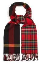 Burberry Fringed tartan scarf