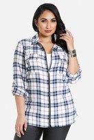 Fashion to Figure Pippie Zip Front Flannel Shirt