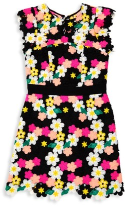 Milly Girl's Leila Crochet Floral Dress