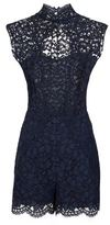 Sandro Janel Backless Lace Playsuit