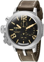 U-Boat Classico Chrono 7453 Sterling Silver & Leather 48mm Watch