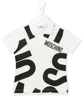 Moschino Kids - logo print polo shirt - kids - Cotton/Spandex/Elastane - 4 yrs