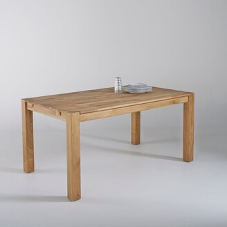 La Redoute Interieurs ADELITA Solid Oak Table with 2 Extensions (Seats 6-8)