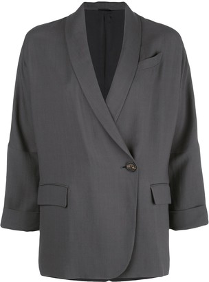 Brunello Cucinelli Side Button Blazer
