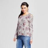 Xhilaration Women's Lace-Up Cold Shoulder Sweatshirt Juniors')