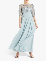 Phase Eight Clarissa Sequin Embellished Dress, Duck Egg