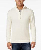 Weatherproof Vintage Men's Big and Tall Textured Quarter-Zip Sweater, Classic Fit