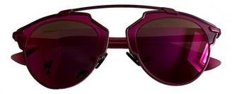 Christian Dior So Real Purple Metal Sunglasses