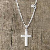 Silver Cross Hersey Silversmiths Personalised Men's And Chain