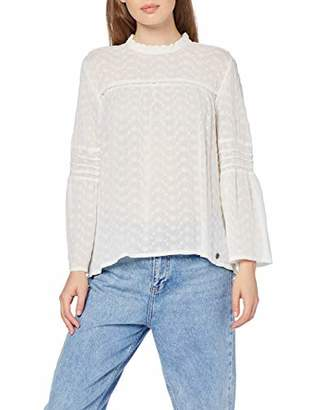 Superdry Women's Taylor Broderie Top Blouse,(Size: Large)