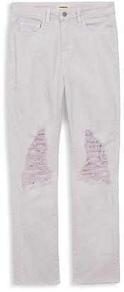 L'Agence Luna High-Rise Distressed Jeans