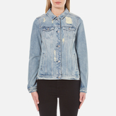 Maison Scotch Women's Denim Trucker Jacket Indigo