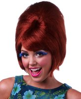 Sepia Natural Red Beehive Style Wig