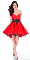 Terani Couture Strapless Pleated High-Low Homecoming Dress