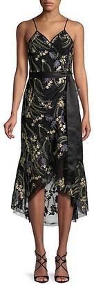 Diane von Furstenberg Embroidered High-Low Dress