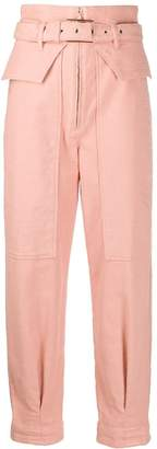 Patrizia Pepe Belted Straight Trousers
