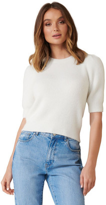 Forever New Carina Brushed Puff Sleeve Knit Tee