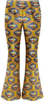 Gucci Jacquard Flared Pants - Yellow