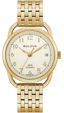 Bulova Limited Edition Women's Swiss Automatic Joseph Gold-Tone Stainless Steel Bracelet Watch 34.5mm