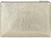 Whistles Metallic medium leather clutch