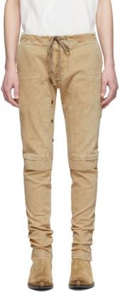 Greg Lauren Beige Work Cargo Pants