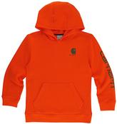 Carhartt Blaze Orange 'Carhartt' Fleece Pullover Hoodie - Boys
