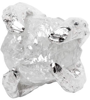 Pearls Before Swine Silver Single Raw Diamond Earring