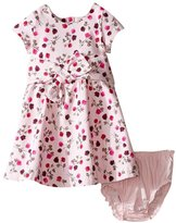 Kate Spade Fit & Flare Dress Set (Baby) - Tossed Rose - 24 Months