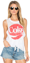 Chaser Coke Tie Front Muscle Tee