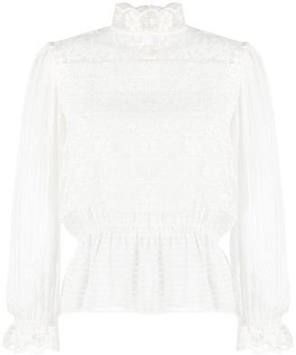 Sandro Lace-Embroidered Blouse