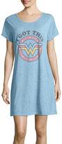 Asstd National Brand Knit Short Sleeve Round Neck Nightshirt-Juniors