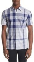 Burberry Men's Ancroft Check Sport Shirt