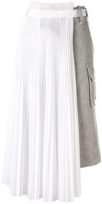 Sacai double layered skirt