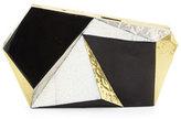 Rafe Azura Asymmetric Minaudiere, Black/Golden