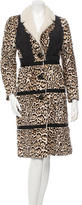 Burberry Shearling Leopard Print Coat w/ Tags