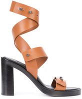 Ann Demeulemeester strappy sandals - women - Bullhide Leather/Leather - 36
