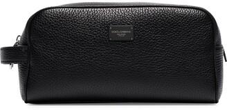 Dolce & Gabbana Pebbled-Texture Wash Bag