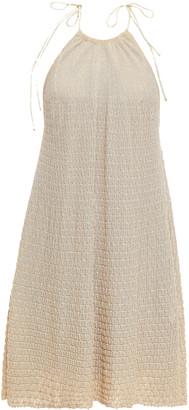 M Missoni Crochet-knit Halterneck Mini Dress