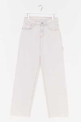 Nasty Gal Womens Denim Rome Washed Cropped Jeans - Grey - 8
